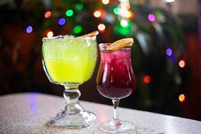 The Circus Margarita and Purple Margarita, two signature cocktails at the new location. - MABEL SUEN