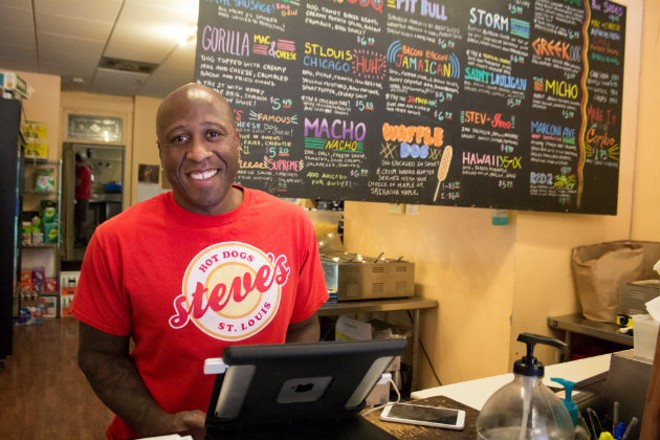 Steve Ewing of Steve's Hot Dogs. - SARA BANNOURA