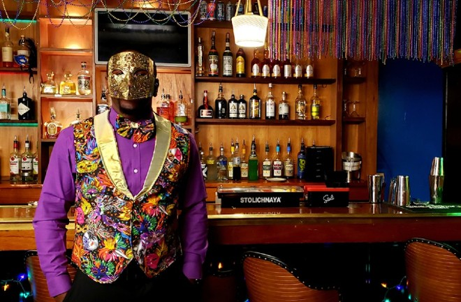Ronnell Banks, Molly's operational manager, dresses up for opening night at Carnival. - KRISTEN FARRAH