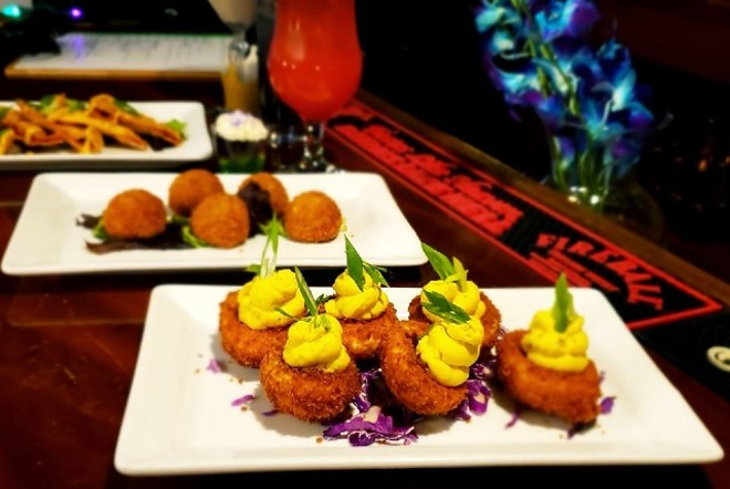 Deviled eggs are even a little more colorful and festive at Carnival. - KRISTEN FARRAH