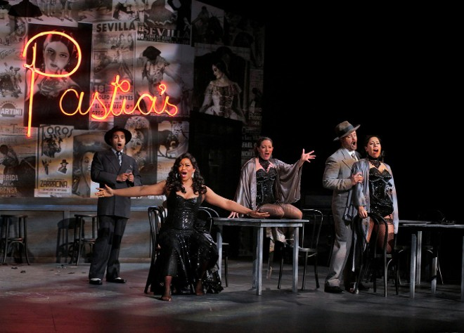 A scene from Opera Theatre of Saint Louis' 2012 performance of Carmen. - COURTESY OPERA THEATRE OF SAINT LOUIS