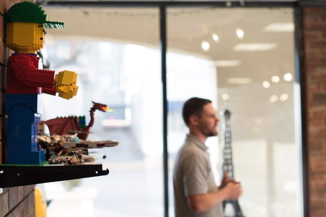 In addition to LEGO sets, the shop has a bunch of completed builds on display. - TRENTON ALMGREN-DAVIS
