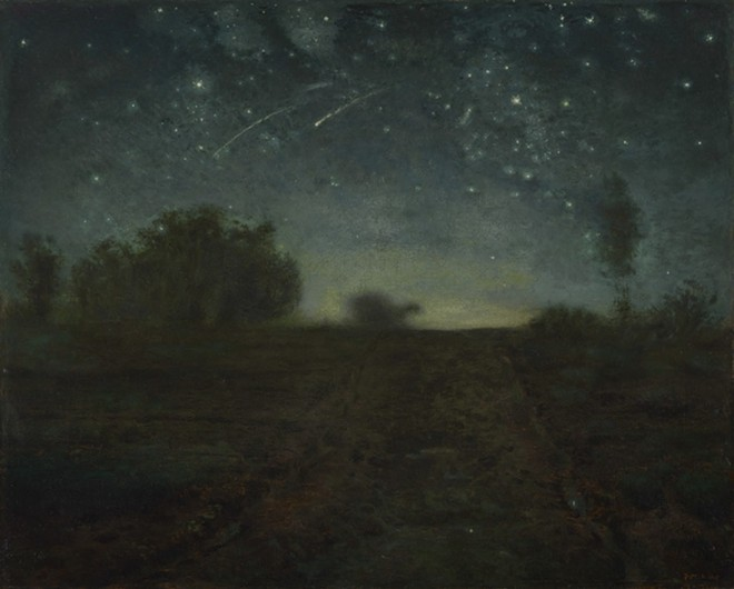 Jean-François Millet, French, 1814–1875; Starry Night, c. 1850-1865; oil on canvas; 25 3/4 x 32 inches; Yale University Art Gallery, Leonard C. Hanna, Jr., Class of 1913, Fund 2020.44
