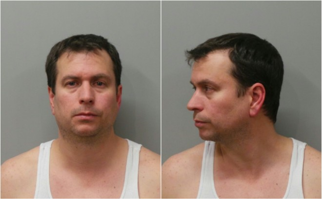White-collar, and occasionally no-collar, criminal Bryan Vonderahe, shown following a 2016 DWI arrest. - COURTESY MARYLAND HEIGHTS POLICE
