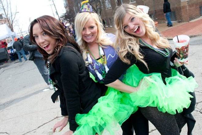 Soulard goes crazy for the Mardi Gras Grand Parade (and the debauchery). - STEVE TRUESDELL