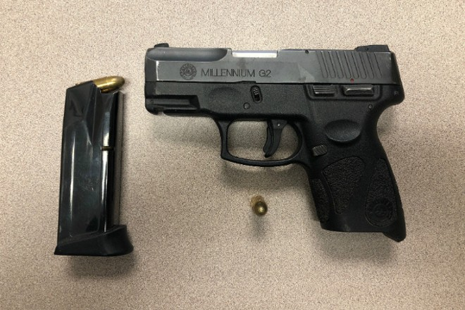 Police say they recovered this gun after arresting Neilsen. - COURTESY ST. LOUIS POLICE