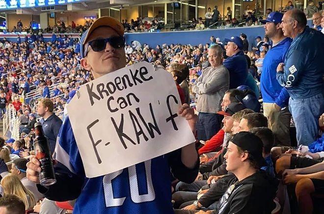 A sentiment expressed by many at Sunday's BattleHawks home opener. - JUSTIN POOLE