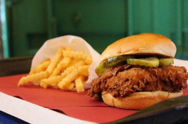 The Chicken Out house sandwich. - COURTESY CHICKEN OUT