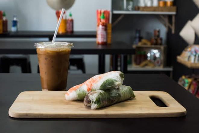 Vietnamese iced coffee and spring rolls. - TRENTON ALMGREN-DAVIS