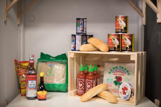 Ingredients for the shop stocked in the kitchen. - TRENTON ALMGREN-DAVIS