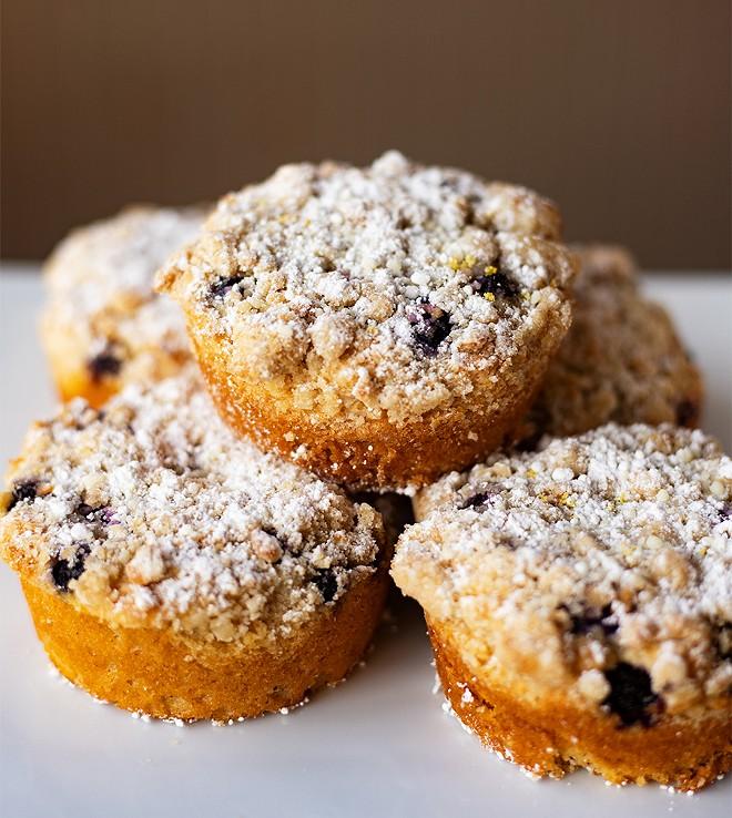 Rotating desserts include coffeecake. - MABEL SUEN