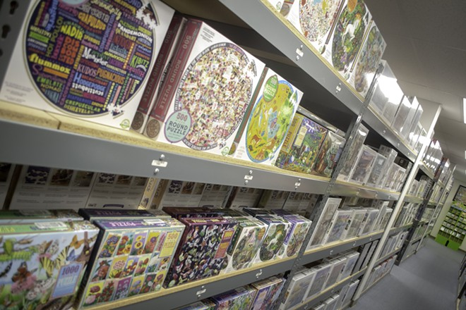 The Puzzle Warehouse has more than 10,000 puzzles and plenty of board games to keep you entertained. - PUZZLE WAREHOUSE