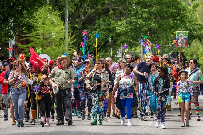 The People's Joy Parade is always a highlight of the annual street festival. - DAVE ADAMS