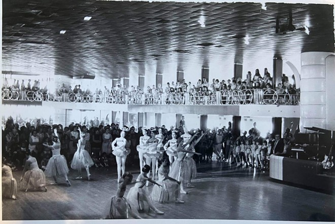 A dance recital during the 1970s in the Admiral's ballroom. - GINNY BLAKEMORE