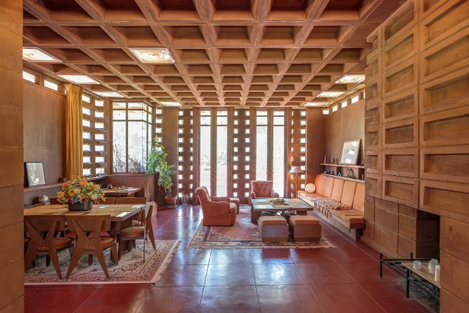 The house is an example of Frank Lloyd Wright's Usonian Automatic style. - COURTESY FRANK LLOYD WRIGHT INITIATIVE
