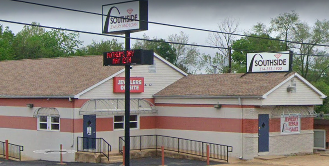 As many as ten people helped steal a cache of weapons from Southside Pawn and Jewelry. - IMAGE VIA GOOGLE STREETVIEW