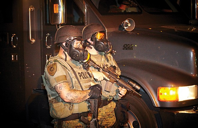 St. Louis County police were a big part of the response in 2014 in Ferguson. - STEVE TRUESELL