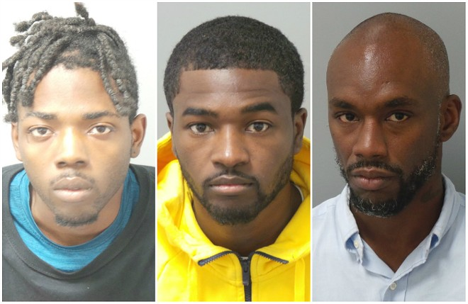 From left: Stephan Cannon, Jimmie Robinson and Samuel Simpson. - COURTESY ST. LOUIS POLICE