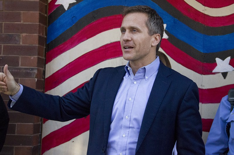 Eric Greitens has a story to tell.