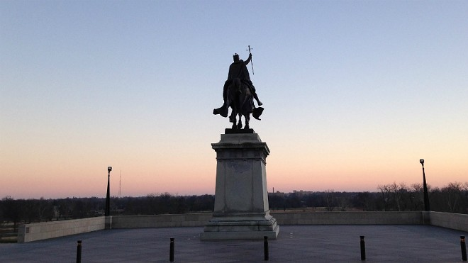 The worst of St. Louis monuments to bad men may be the Art Hill bronze of the city's namesake. - DOYLE MURPHY