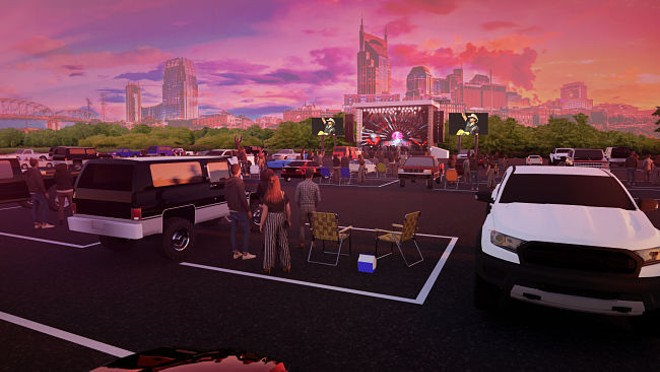 Live Nation is getting in on on the drive-in craze brought on by the coronavirus pandemic. - RENDERING PROVIDED BY LIVE NATION