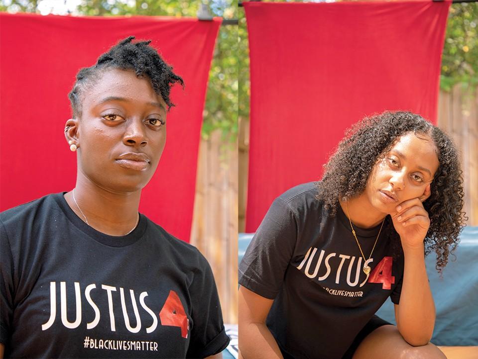Brooke Jones and Bersabeh Mesfin. - NYARA WILLIAMS