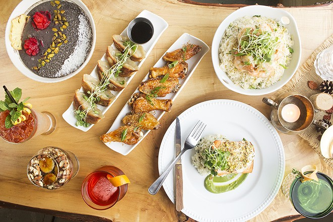 The menu at the Garden on Grand includes everything from smoothies to roasted salmon. - PHOTO BY MABEL SUEN