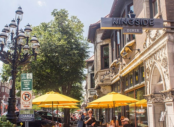 Restaurants in the Central West End are expanding their outdoor dining into the streets in an effort to provide safe dining spaces. - MABEL SUEN