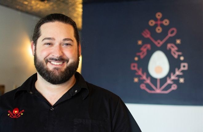 Brandon Summit of Yolklore provides hospitality to his guests  in even the quickest of interactions. - ANDY PAULISSEN