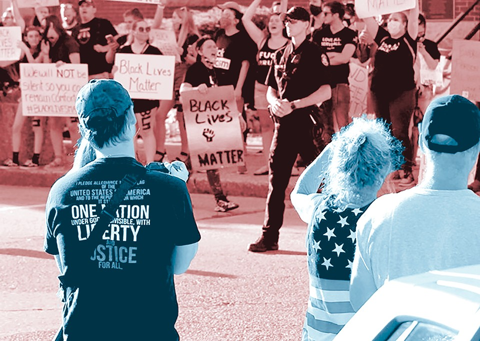 Activists at Fredericktown's June 24 protest were met with racist taunts and threats from armed counterprotesters.