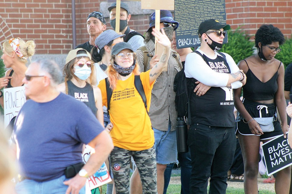 Missouri Social Activism, or MOSA, has brought crowds of demonstrators to small towns throughout southeast Missouri since getting its start this summer. - ADAM HAMLIN
