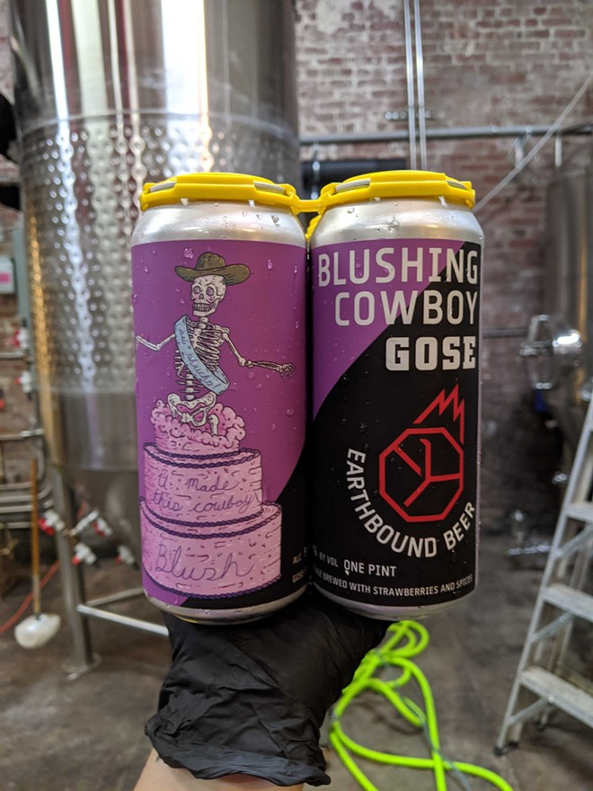 A new strawberry gose, as fresh as fresh can be. - VIA EARTHBOUND BEER