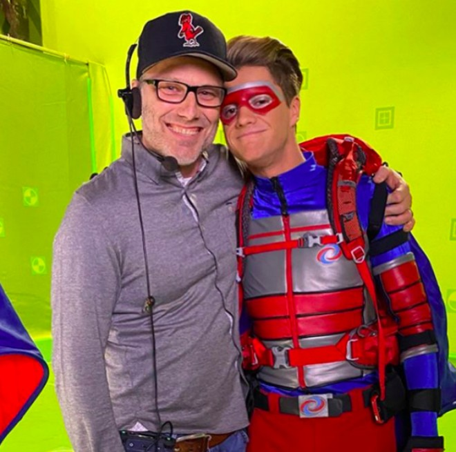 Mike Caron with Jace Norman, who plays Henry Hart of Henry Danger. - DRE SWAIN