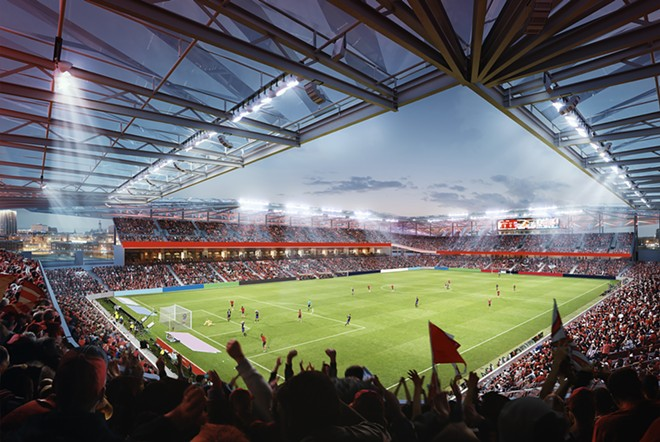 Rendering of the new stadium for St. Louis City SC - CREDIT: MLS4THELOU