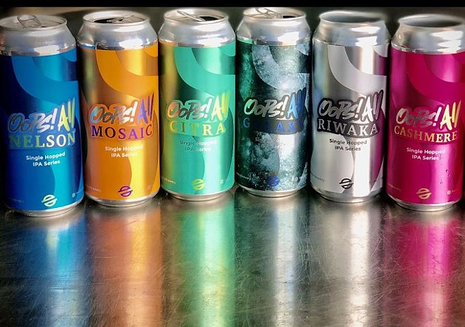 """Modern Brewery's new """"Oops! All"""" line will see the release of two additional flavors this week. - VIA MODERN BREWERY"""