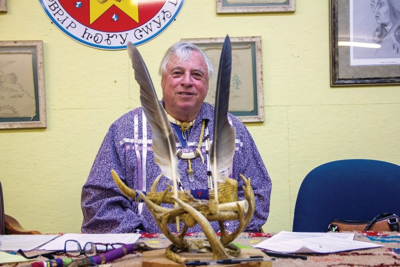 "Kenn ""Grey Elk"" Descombes, chief of the Northern Cherokee Nation, maintains that his tribe is ""just as much"" a minority as federally recognized Cherokee groups."