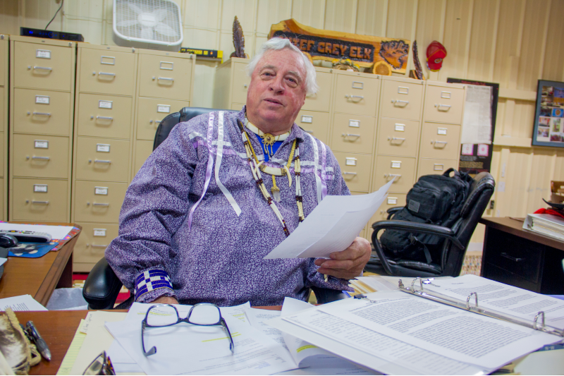 Descombes dismisses all accusations that the Northern Cherokee Nation is a faux tribe. - DANNY WICENTOWSKI