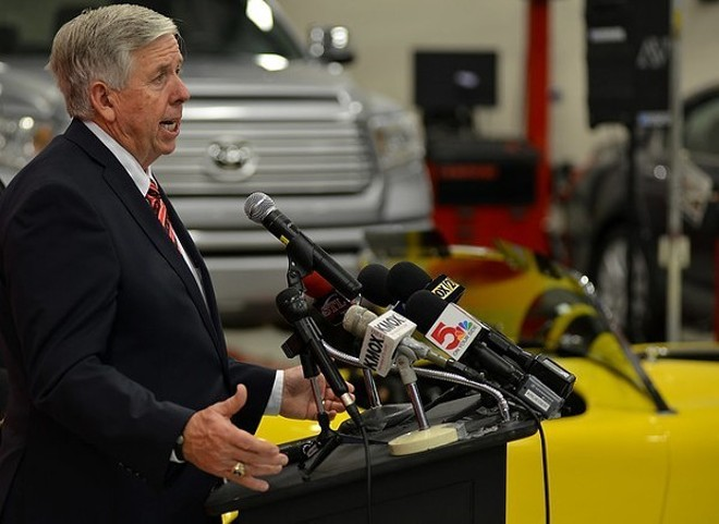 Missouri Gov. Mike Parson has repeatedly refused to mandate masks. - TOM HELLAUER