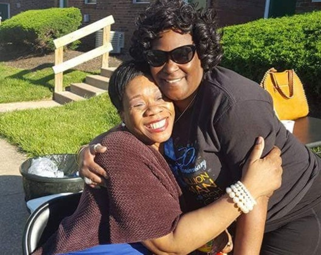 Beverly Jones, right, with Pamela Meanes. - COURTESY BEVERLY JONES