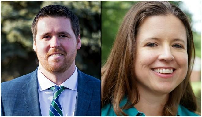 Treasurer Scott Fitzpatrick and former state Rep. Vicki Englund. - OFFICIAL PORTRAIT/TWITTER