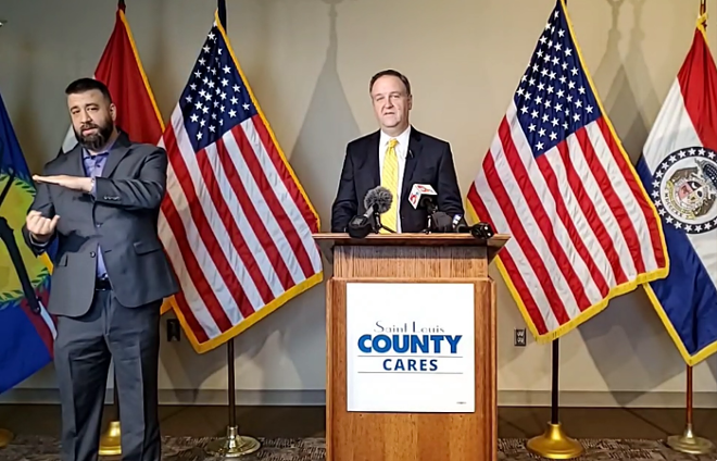 St. Louis County Executive Sam Page says everyone is suffering during the pandemic. - SCREENSHOT/FACEBOOK