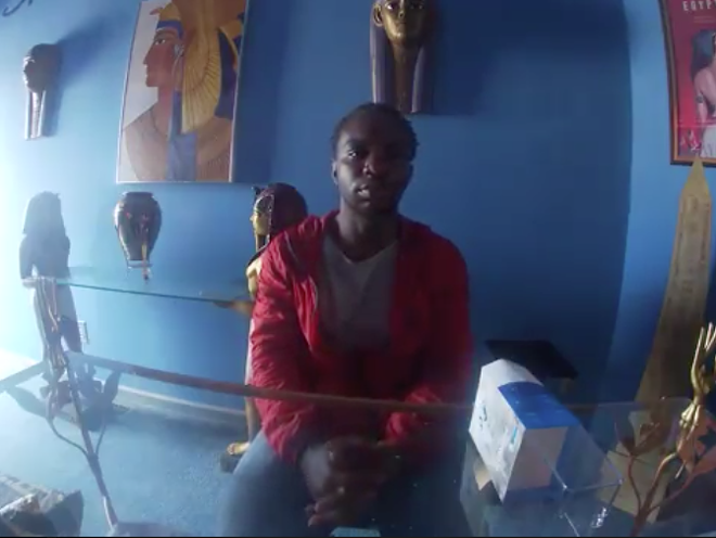 Shelton Buchanan, shown in a still from a video, told a private investigator Key never shot him. - SCREEN GRAB