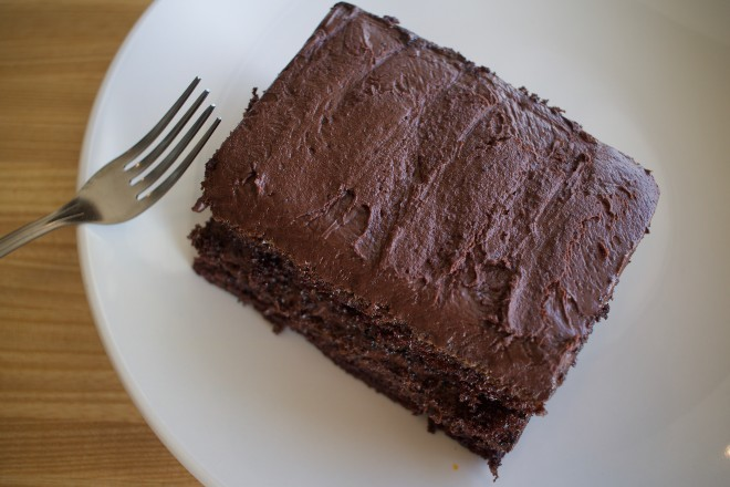 The chocolate cake is based on an old family recipe. - CHERYL BAEHR