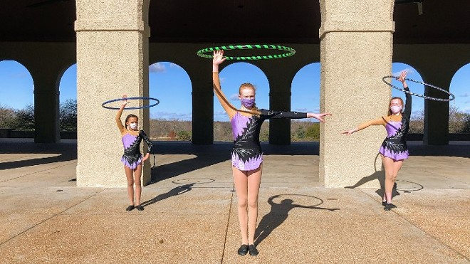 Circus Harmony students performed in front of St. Louis landmarks, while their German counterparts did the same in Stuttgart. - COURTESY CIRCUS HARMONY