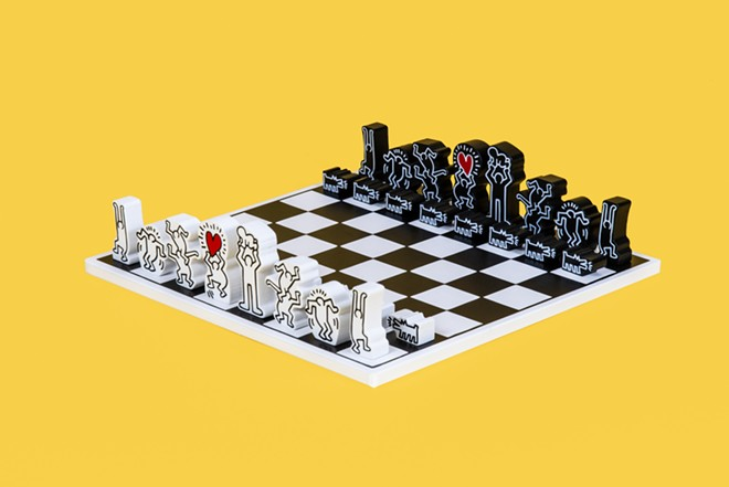 Your move. - VILAC, KEITH HARING CHESS SET, 2019, COLLECTION OF THE WORLD CHESS HALL OF FAME, KEITH HARING ARTWORK COPYRIGHT ©️ KEITH HARING FOUNDATION