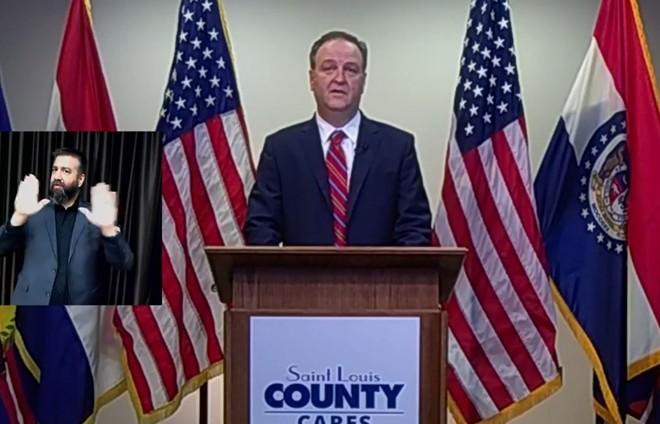 St. Louis County Executive Sam Page. - SCREENSHOT/FACEBOOK