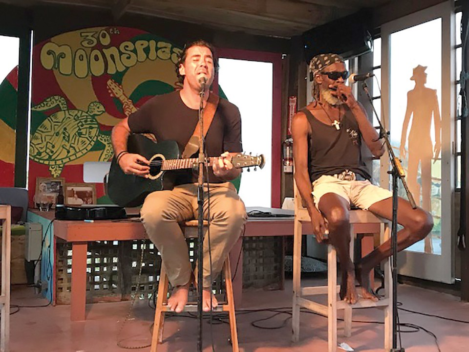 Aguirre and Banx have been streaming live from the Dune Preserve to viewers around the world, which has helped sustain both musicians as Covid destroyed the gig industry. - CRISPIN THURSTON