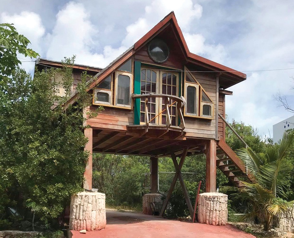 Bankie Banx's tree house. - MIKE AGUIRRE