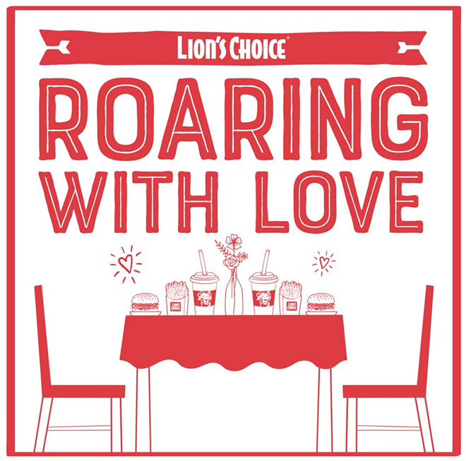"Winners of ""Roaring With Love"" will be announced Thursday, February 11 - PHOTO COURTESY OF LION'S CHOICE"