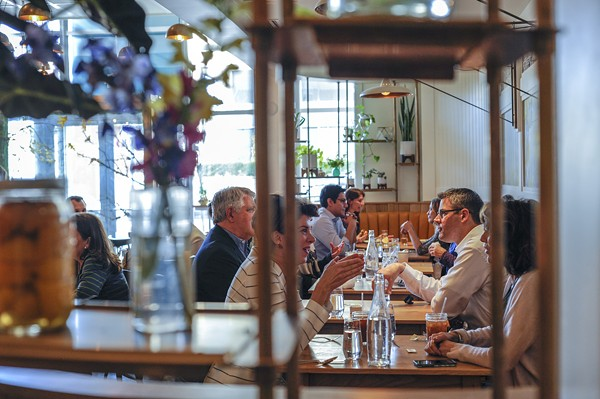 Diners at Sardella. - PHOTO BY KELLY GLUECK